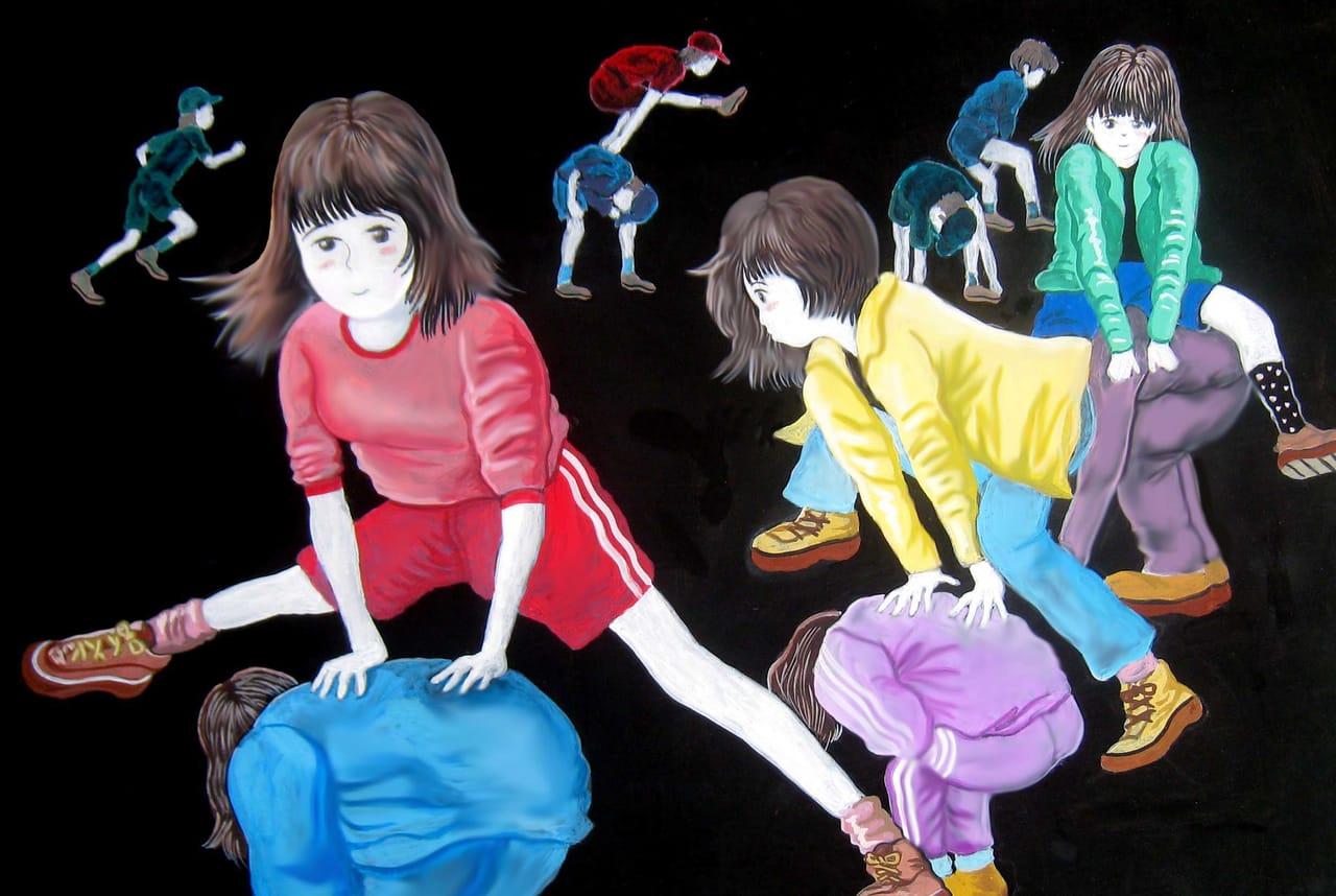 馬跳び Illust of BRC ART_street_Illustration_Book_Contest 女の子かわいい girl スポーツ少女 運動会