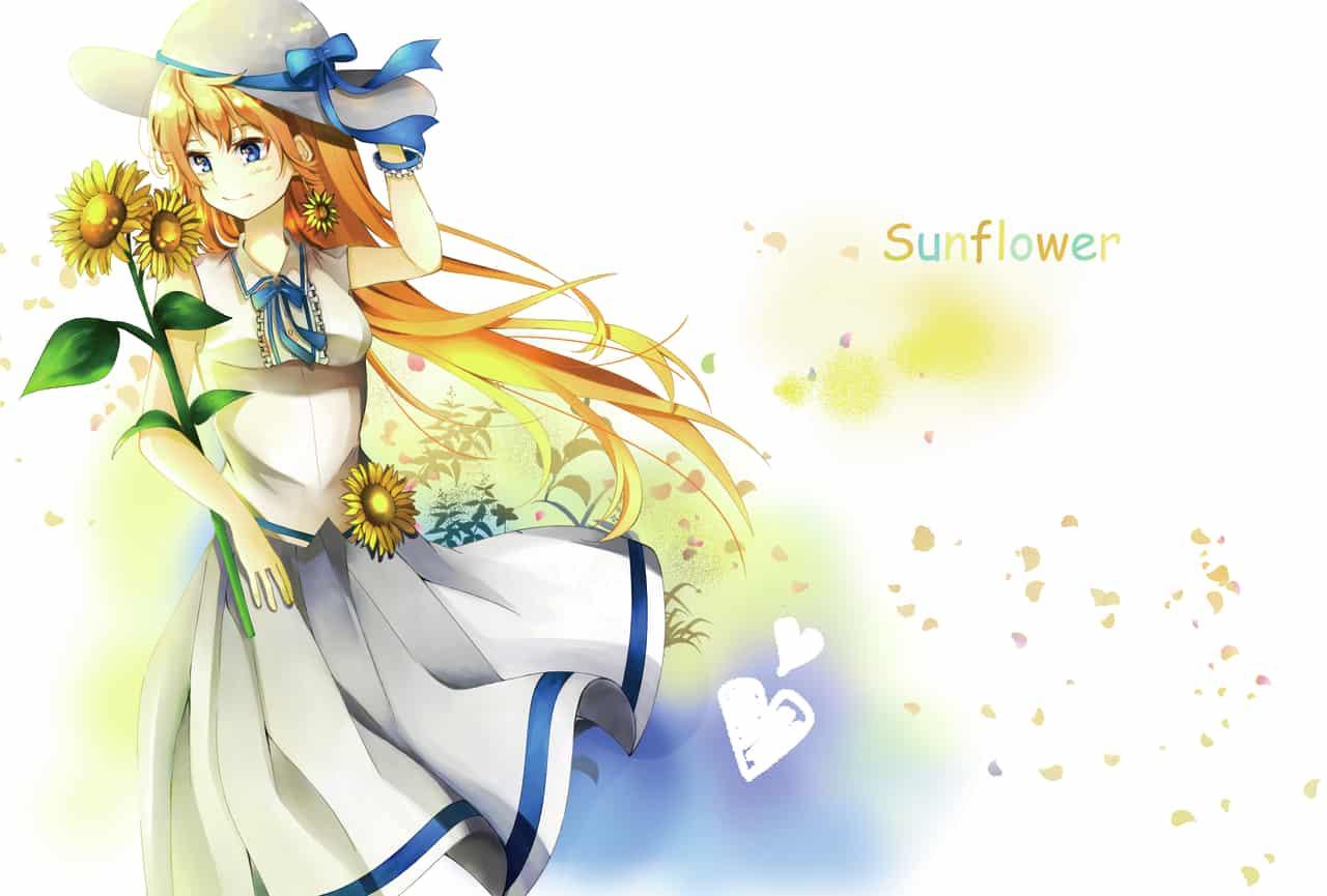 向日葵 Illust of Ray Jul.2019Contest illustration girl kawaii summer 向日葵