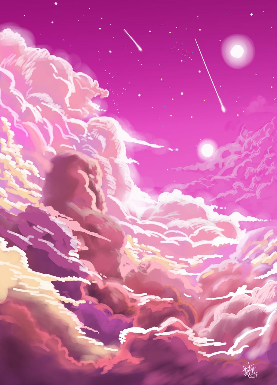 Practicando Nubes  Illust of ZUDOKATO - SAMA medibangpaint sky clouds original scenery