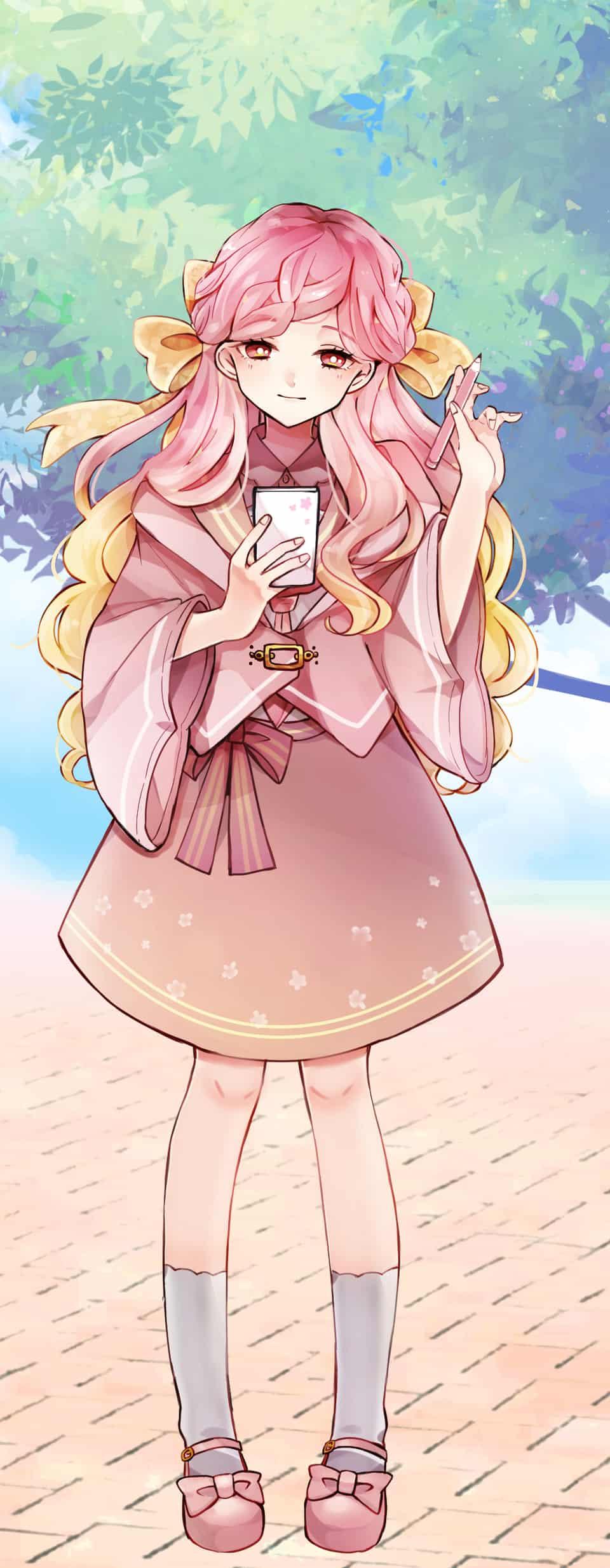 PASTEL SKECTH ピンク Illust of なまろめこ PASTEL_SKETCH2020