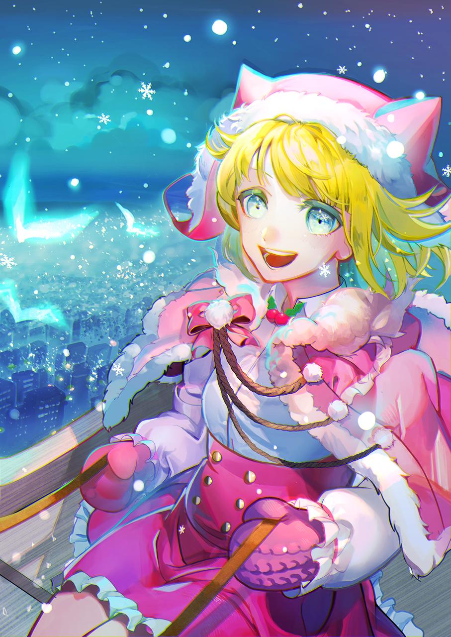 空 Illust of 姉猫 December2020_Contest:Santa Christmas girl original