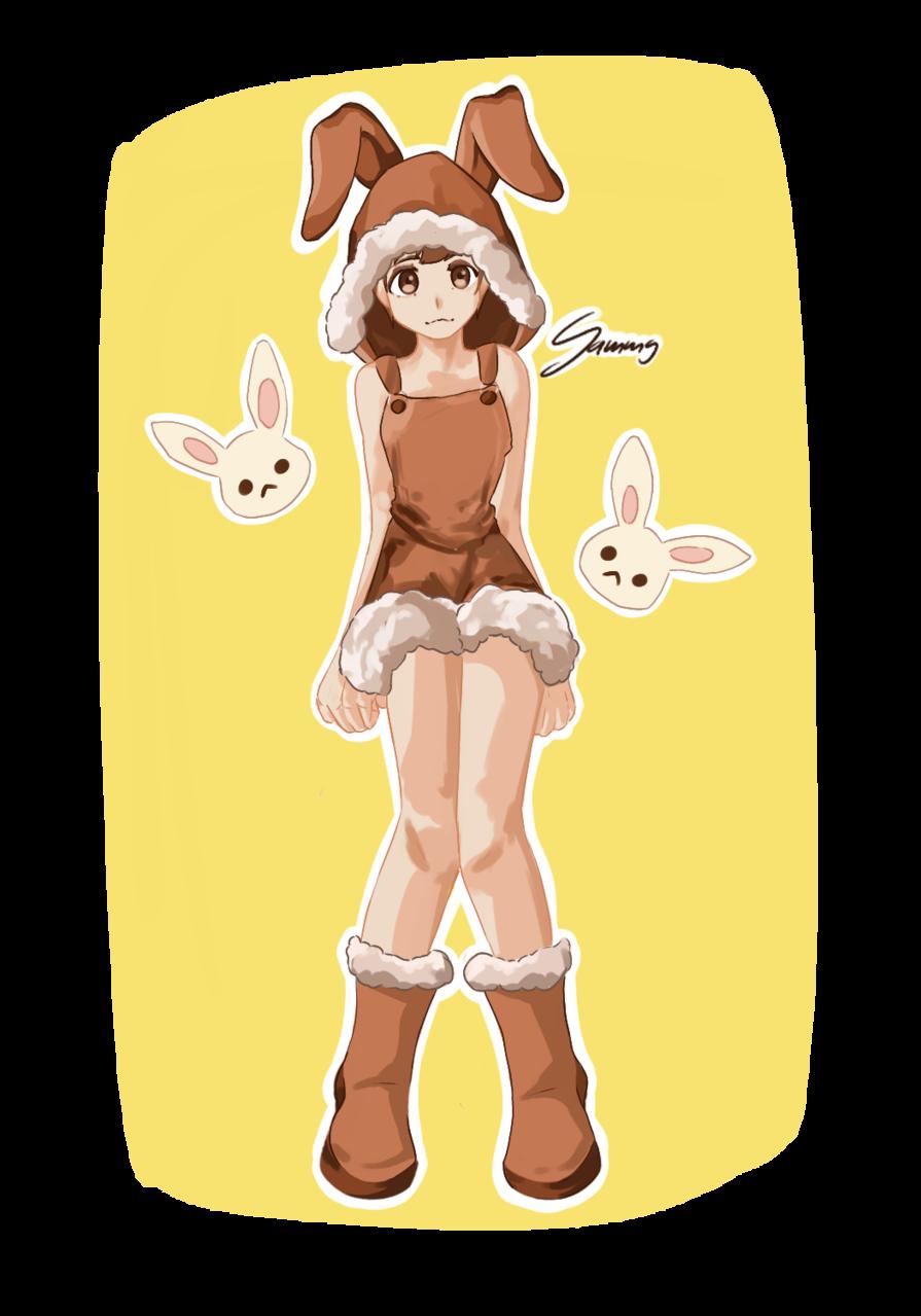 Fluffy Bunny Girl Illust of soda_.phrog March.2020Contest:Easter bunny girl ^^ easter fluffy fluffybunnys cute easterbunny :) bunnies