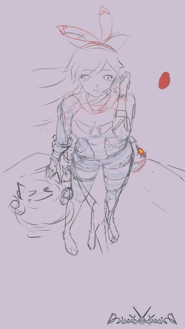 安柏ember Illust of DiaulsKo Post_Multiple_Images_Contest GenshinImpact game girl 崩坏3rd 二次元 光影練習 安柏 Ember