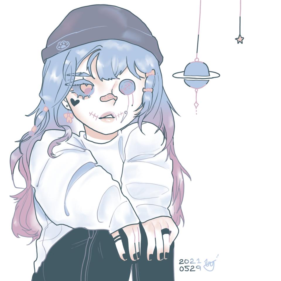 유리구름팀 합작🌨 Illust of 뚱땅땅❤️ '우주멍뭉이 사랑'주의ʚ♥ɞ 색깔팔레트 ❤️ 파스텔