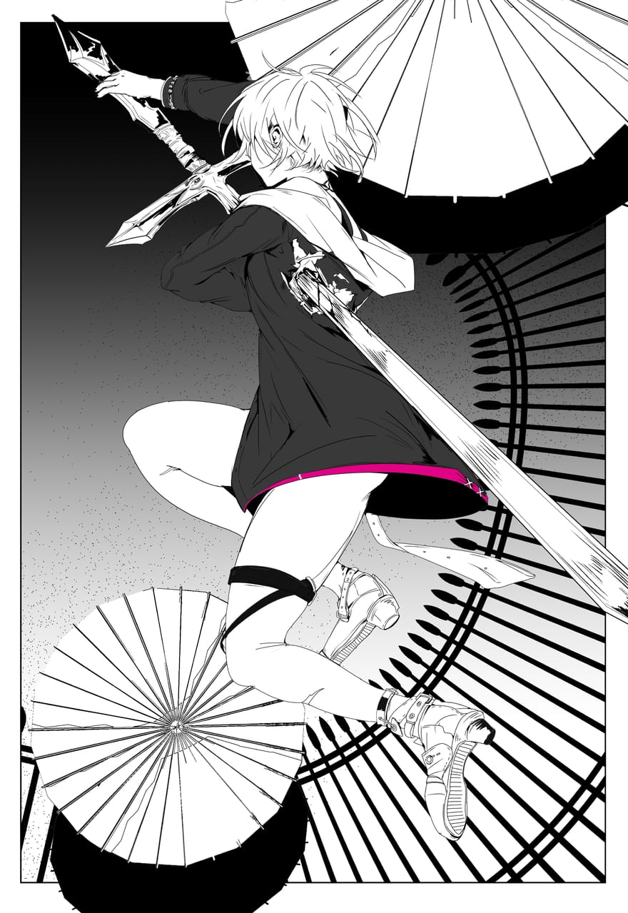 heart Illust of 空色春华 May2021_Monochrome original oc