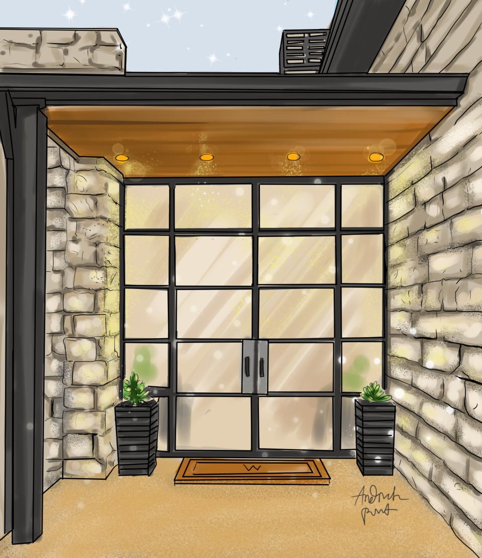 Esterior Home Illust of Andinatz medibangpaint iPad_raffle