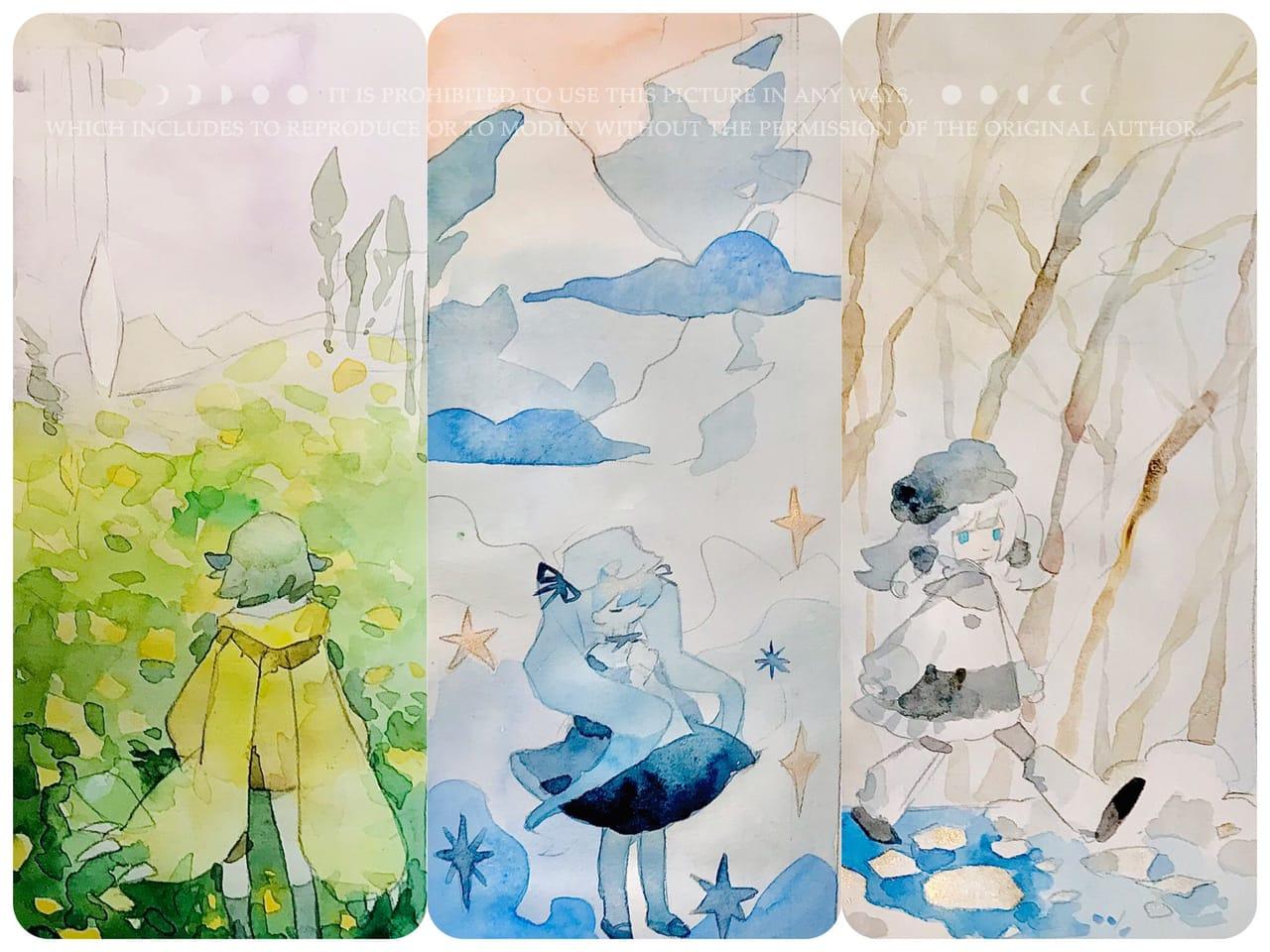 Illust of KIKI輝気 AnalogDrawing watercolor handdrawn