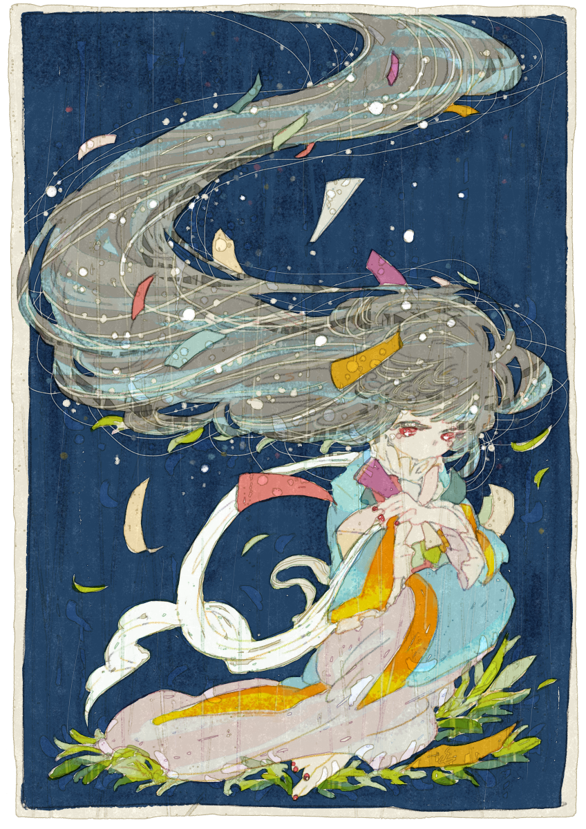 おりひめ Illust of 氏← summer original girl 七夕 織姫