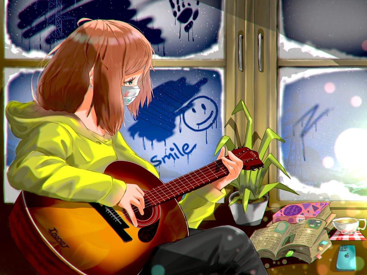 Lonely, I'm so lonely  Illust of Aryan borah January2021_Contest:OC December2020_Contest:Santa anime woman animegirl oc original art winter digital