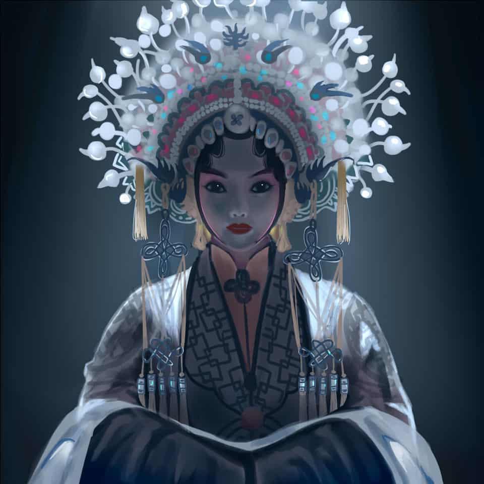 Light Illust of strixrog Original_Illustration_Contest Opera Peking actor