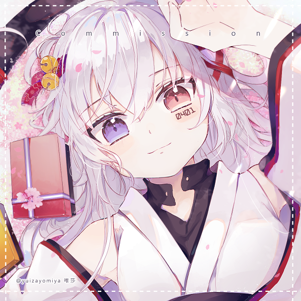 🌸 Illust of 唯莎 仕事絵 Japanese_style white_hair commission girl original 幼女 loli