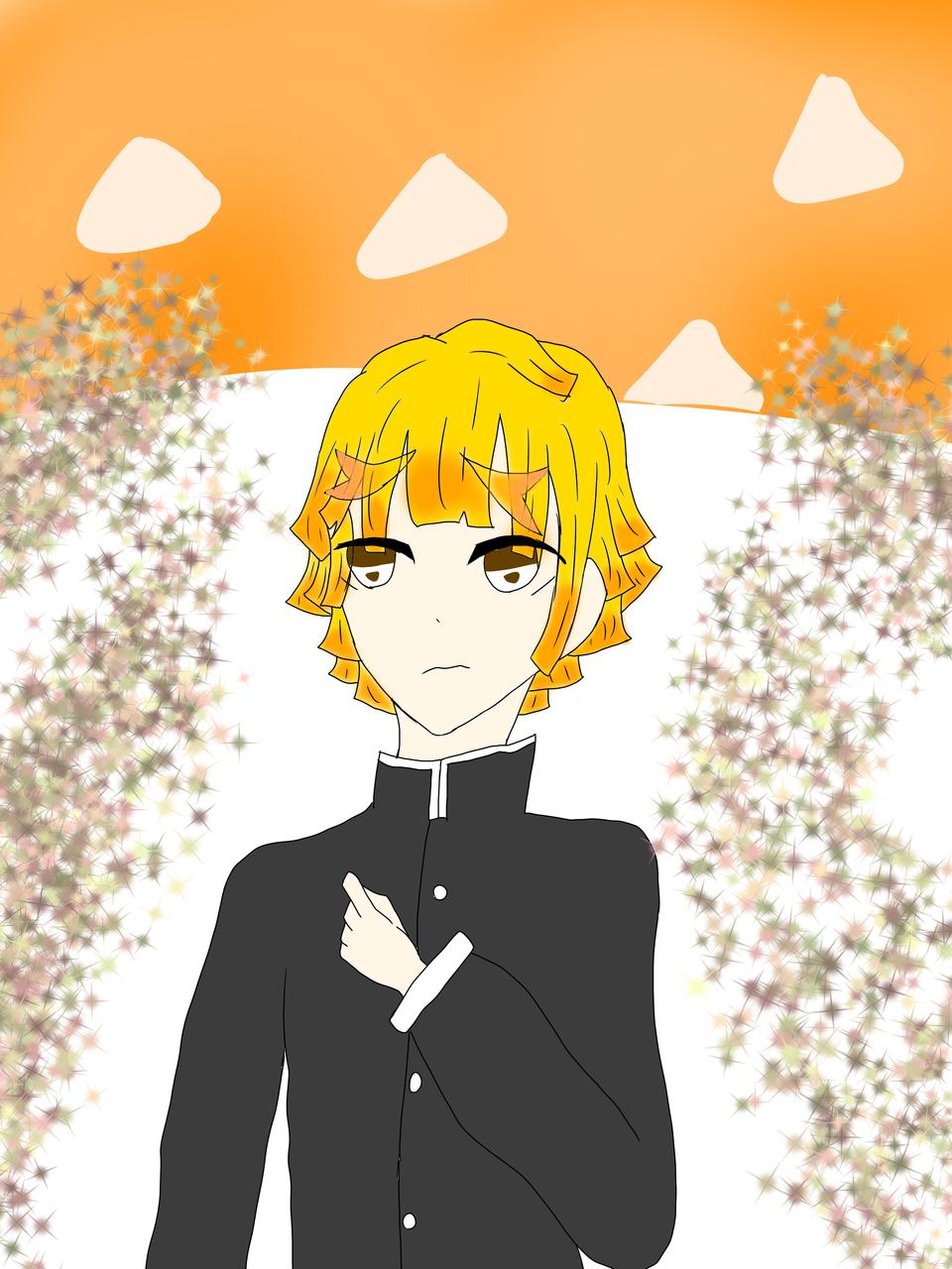 ラクガキぜんいっ Illust of しゃっくりみかん ぜんいつ描きました。 KimetsunoYaiba AgatsumaZenitsu