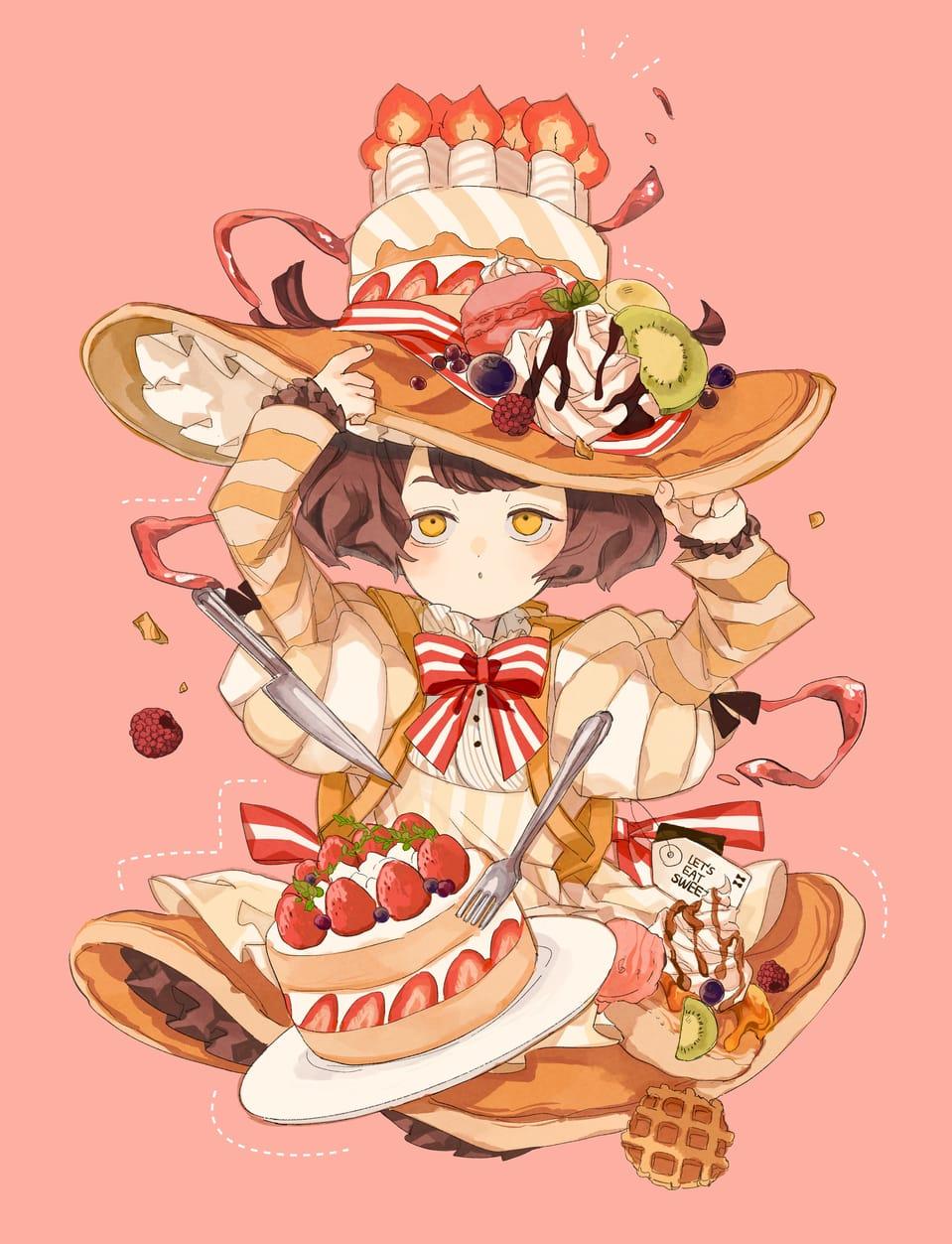 ウィッチ・アラモード Illust of ひがしの October2020_Contest:Food illustration お菓子 original girl