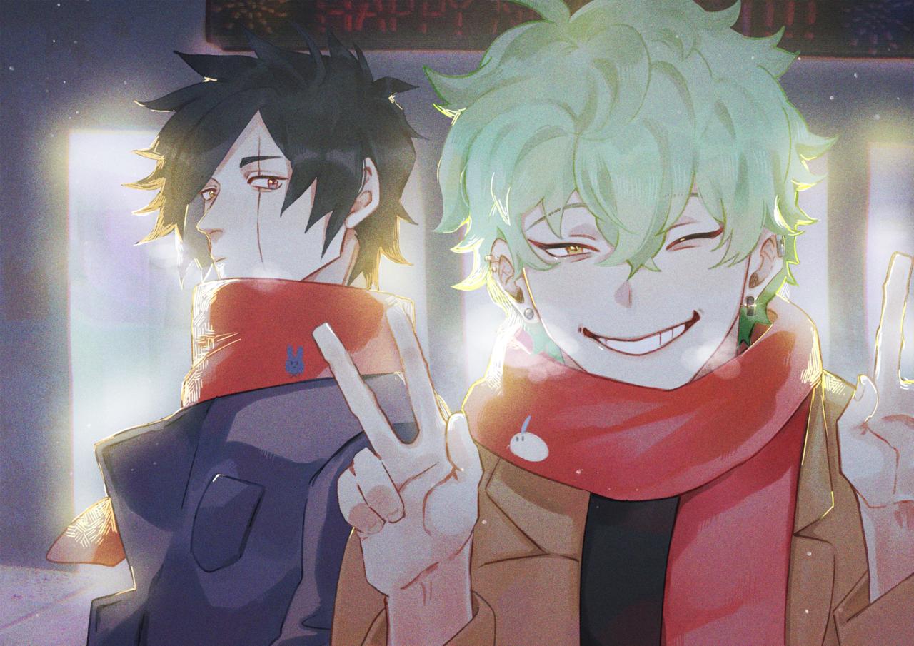 新年 Illust of 伊達唯 January2021_Contest:OC boy