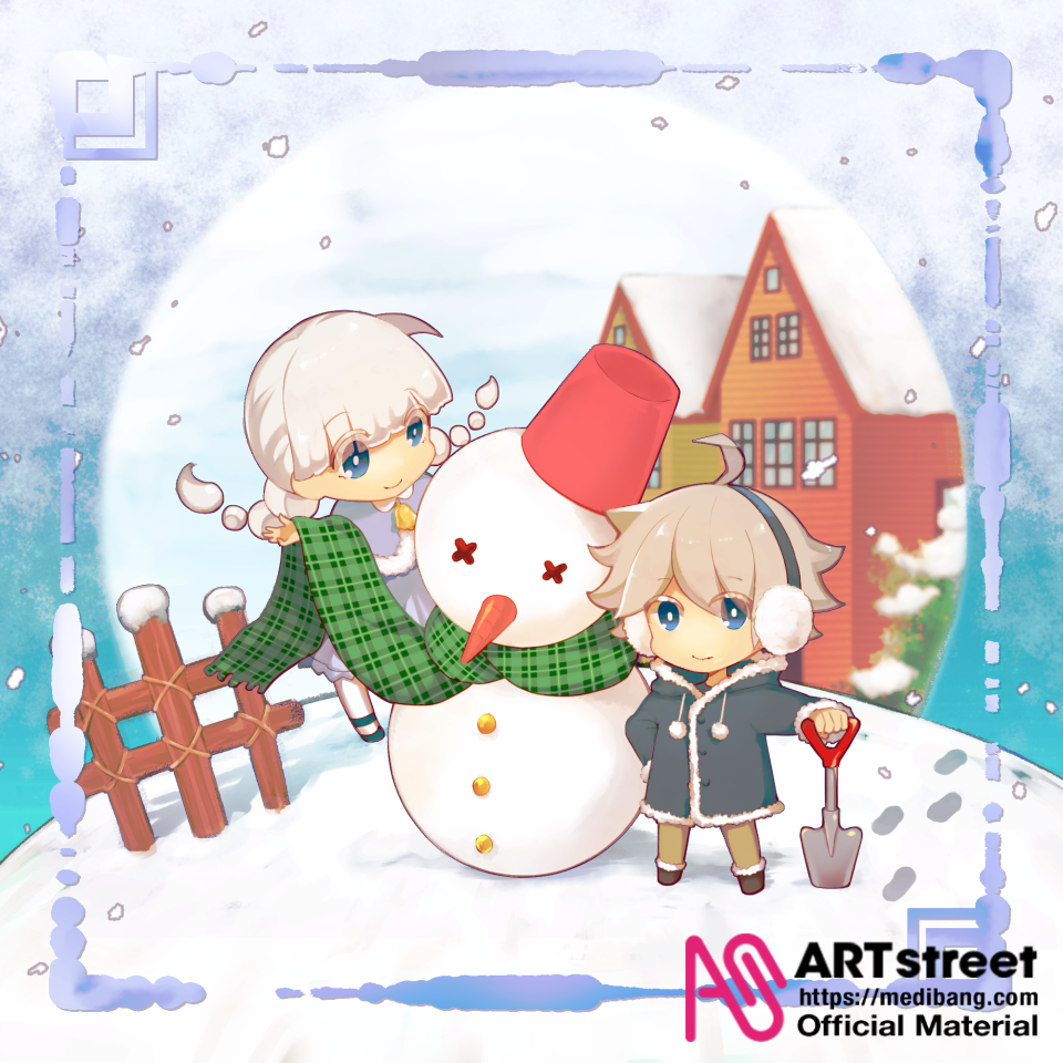 snow day Illust of 杏糖 tracedrawing4th Trace&Draw【Official】 original 雪だるま