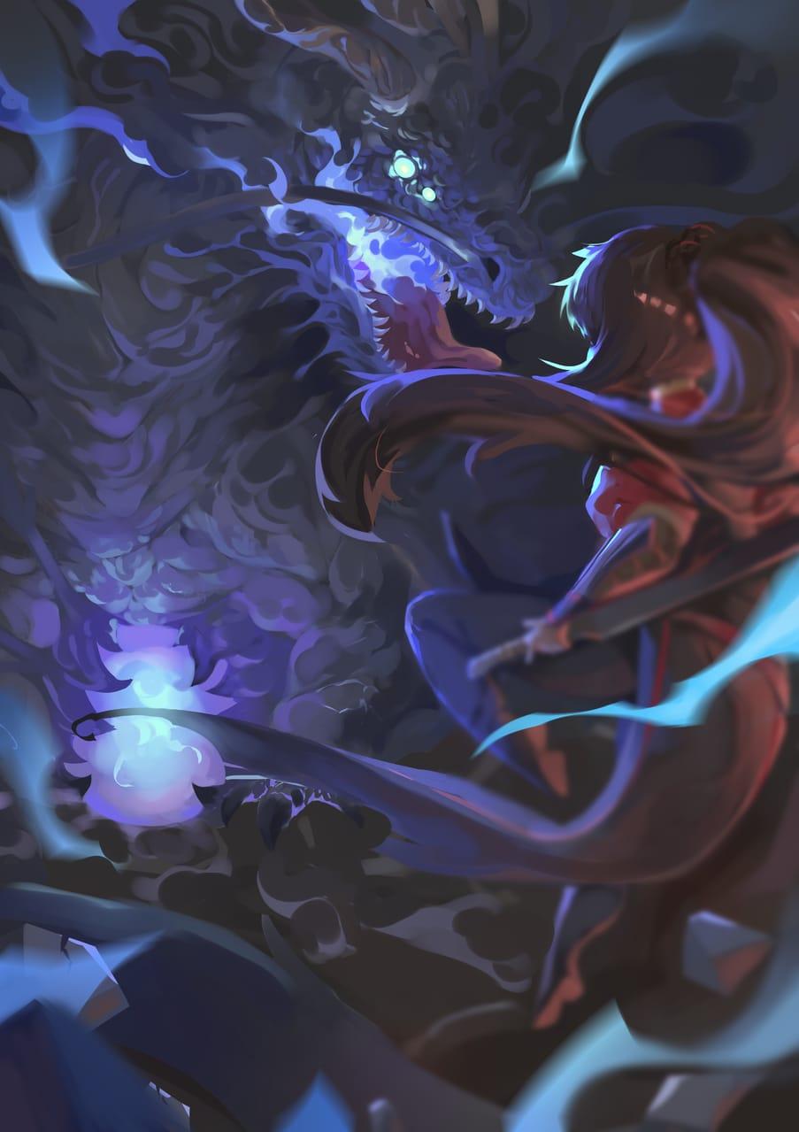 焉之黑火 Illust of 空櫻 第一屆繪王盃角色創作大賽