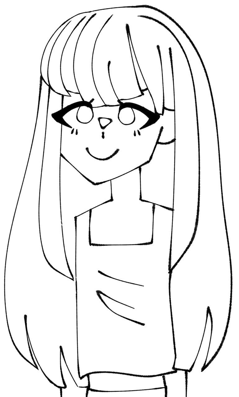 Drawing with another brush Illust of Sunless IbisPaintX girl pink