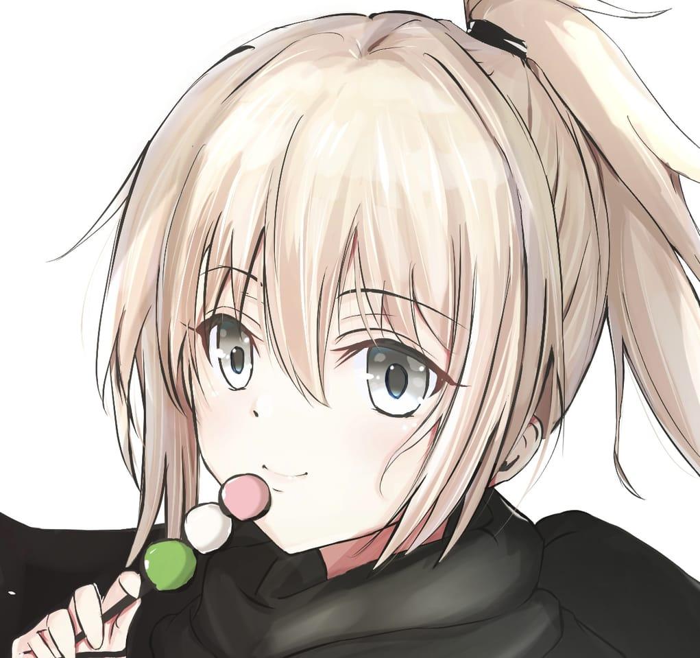 「お団子。一緒に食べますか?」 Illust of ユキはる 沖田総司 Fate 沖田総司(Fate) Fate/GrandOrder