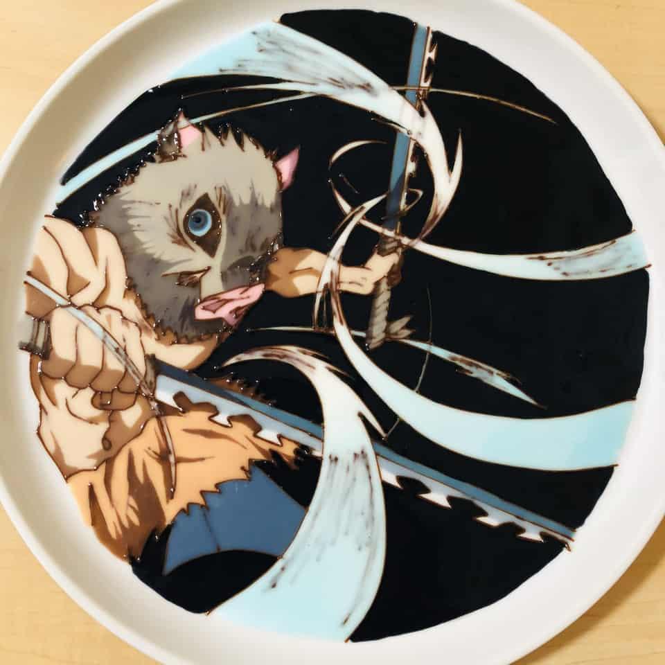 チョコペンアート 嘴平伊之助 Illust of れれ DemonSlayerFanartContest blue HashibiraInosuke KimetsunoYaiba チョコペンアート