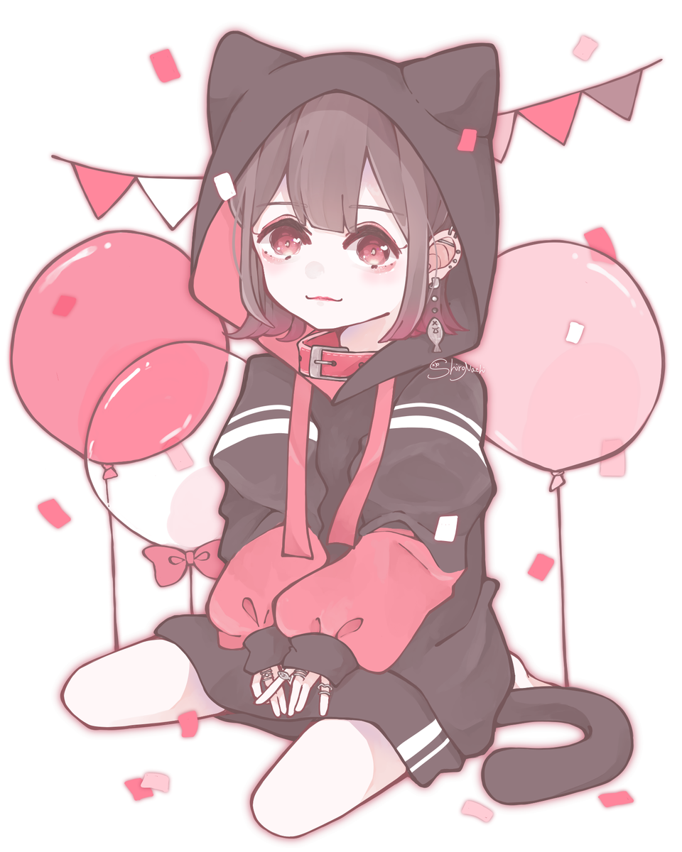 🎀🐈💕 Illust of しろなち illustration cat medibangpaint pink girl original