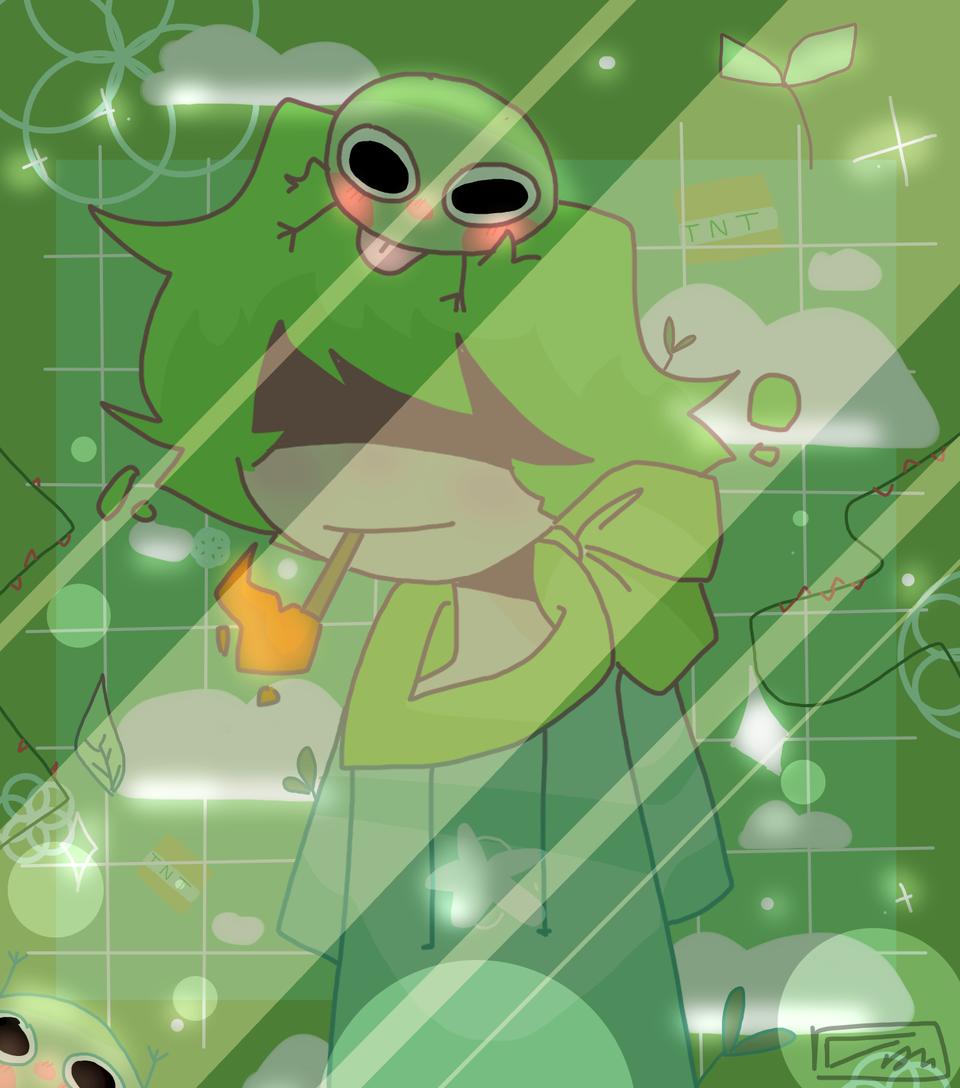phrogo aesthetics .w. Illust of mint mochi medibangpaint aesthetic Frog green Creeper