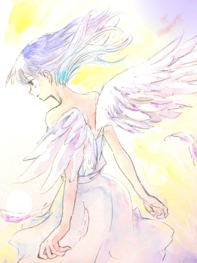天使 Illust of northpole. watercolor 一次創作 レッツワンドロ original girl oc