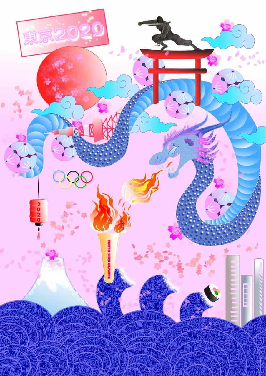 The 2020 Summer Olympics Illust of seyma Jul.2019Contest summer tokyo2020 sea 2020olimpics