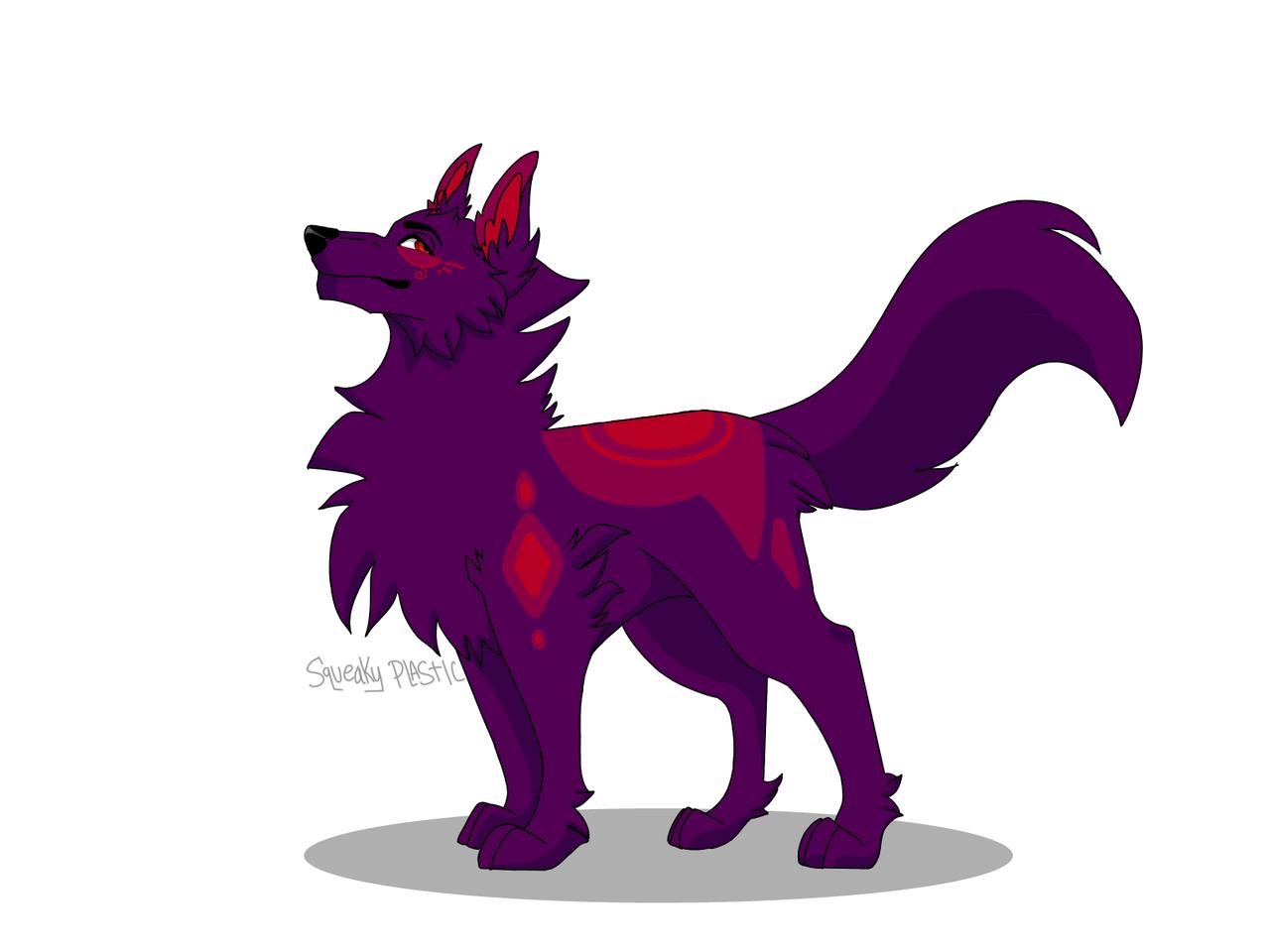 Line art practice #3 Illust of Squeaky Plastic medibangpaint oc wolf
