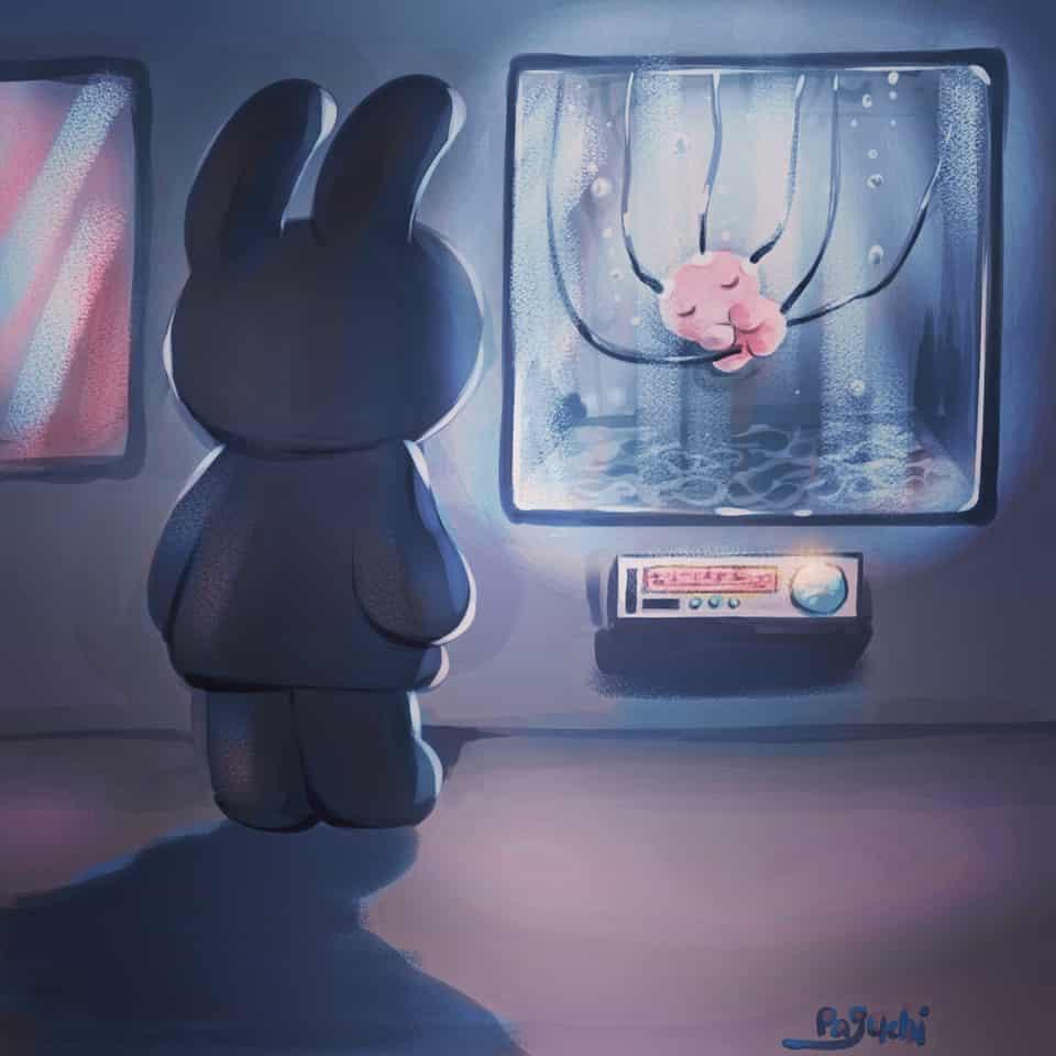 クローン🔬 Illust of PAGUCHI oc rabbit たんぽぽ帝国 うさ耳 original クローン baby