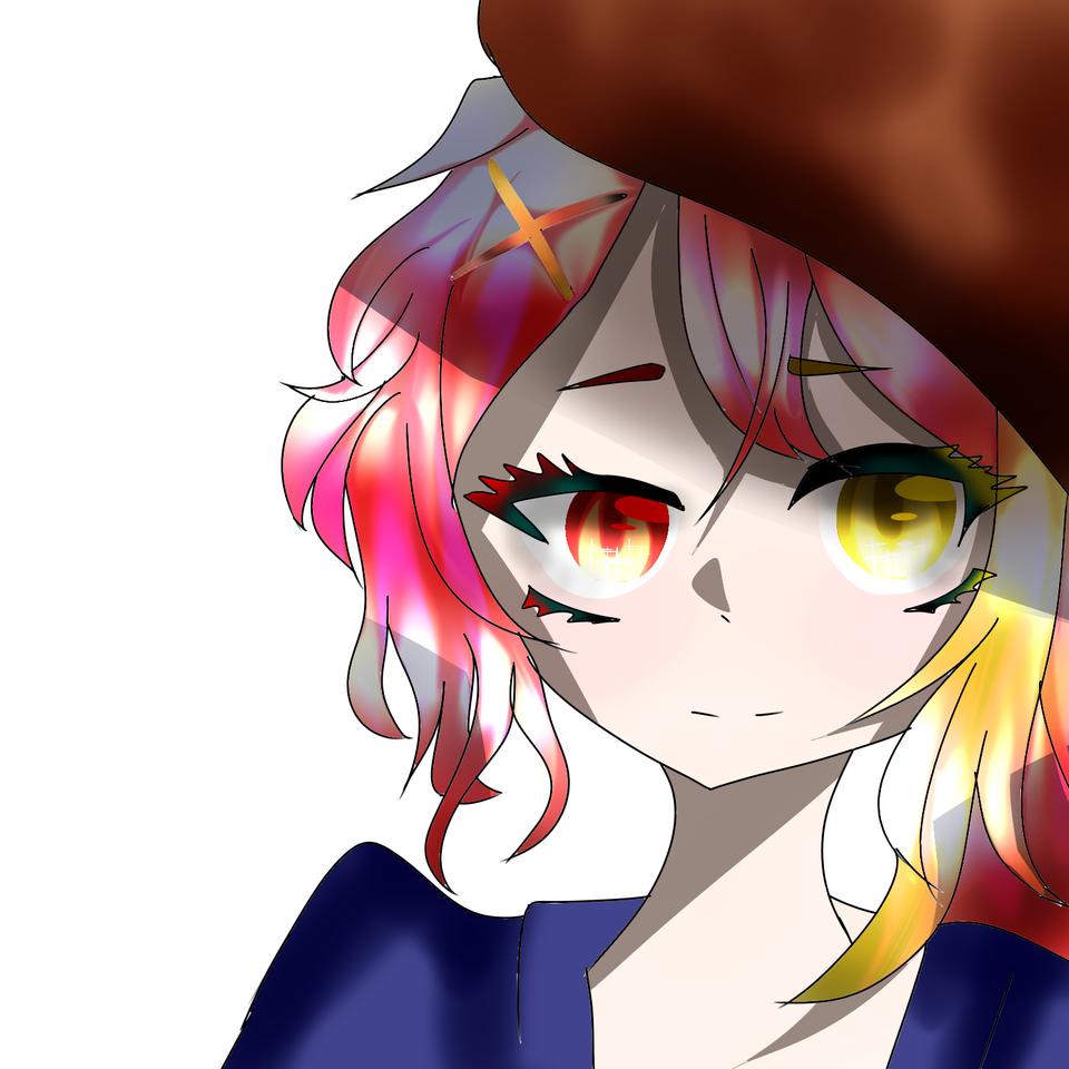 ん? Illust of 如月来蕾≮TRPG≯ medibangpaint doodle girl ん? 帽子 oc