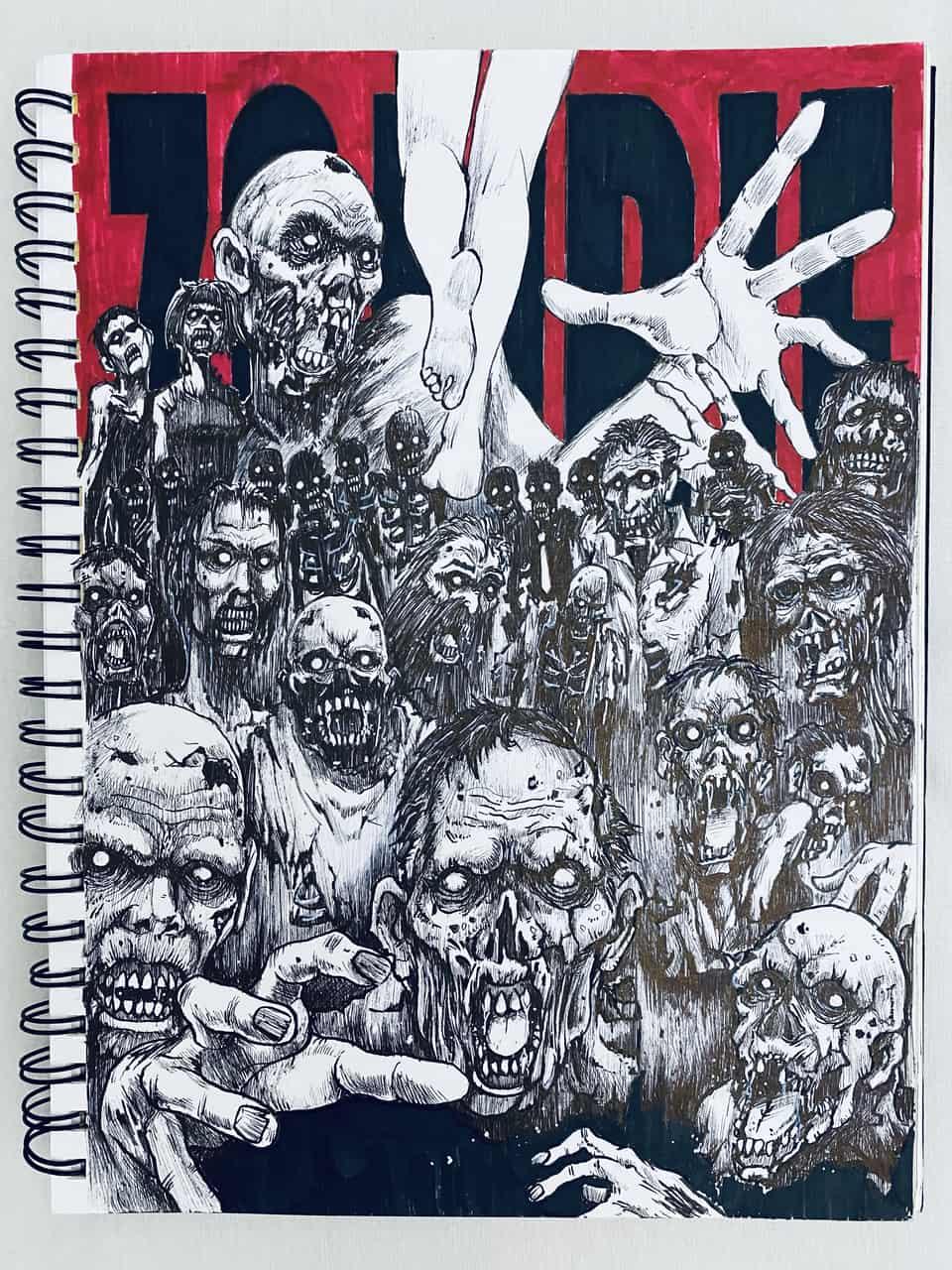【お絵描き】ゾンビを描いてみた! Illust of chuanchieh illustration ペン画 Shudder original sketch アナログ絵 zombie art
