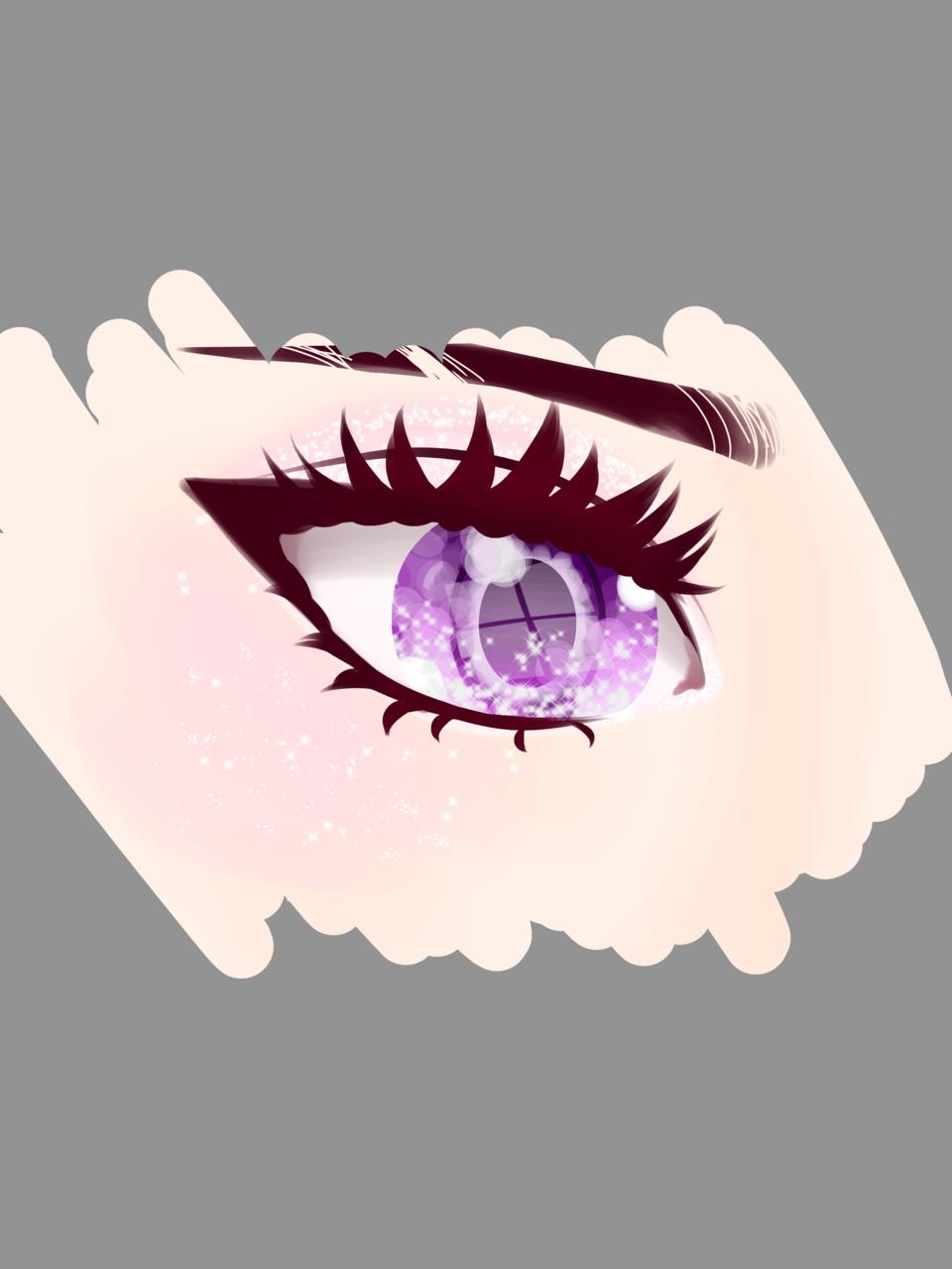 Second try on realistic anime eye thing uvo  Illust of Dekuchan_336(crazy mode?) digital anime Fingerpaint medibangpaint nwn