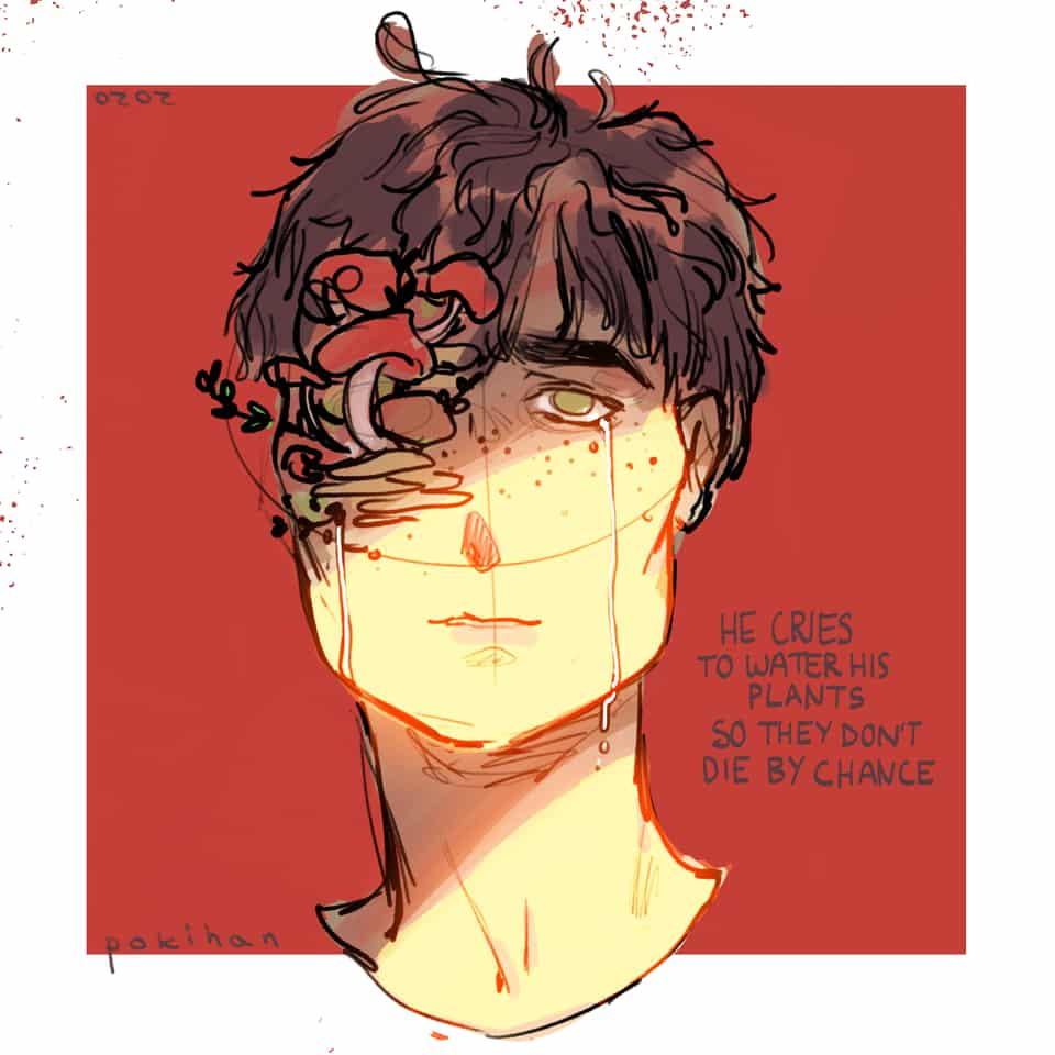 🍄  Illust of poki.han guy anime PokiHan Mushrooms Guy Mushroom Shroom animeboy