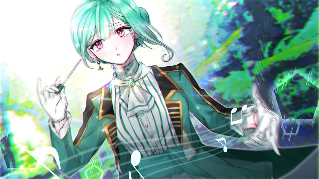 すい Illust of 그쉬 | グッシュ geuswi medibangpaint greenhair girl