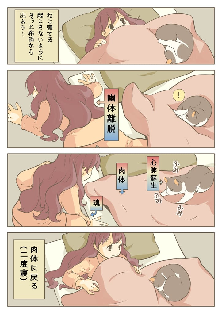 ねこと布団と私 Illust of 砂虫隼 essay 日常 Comics cat animal original