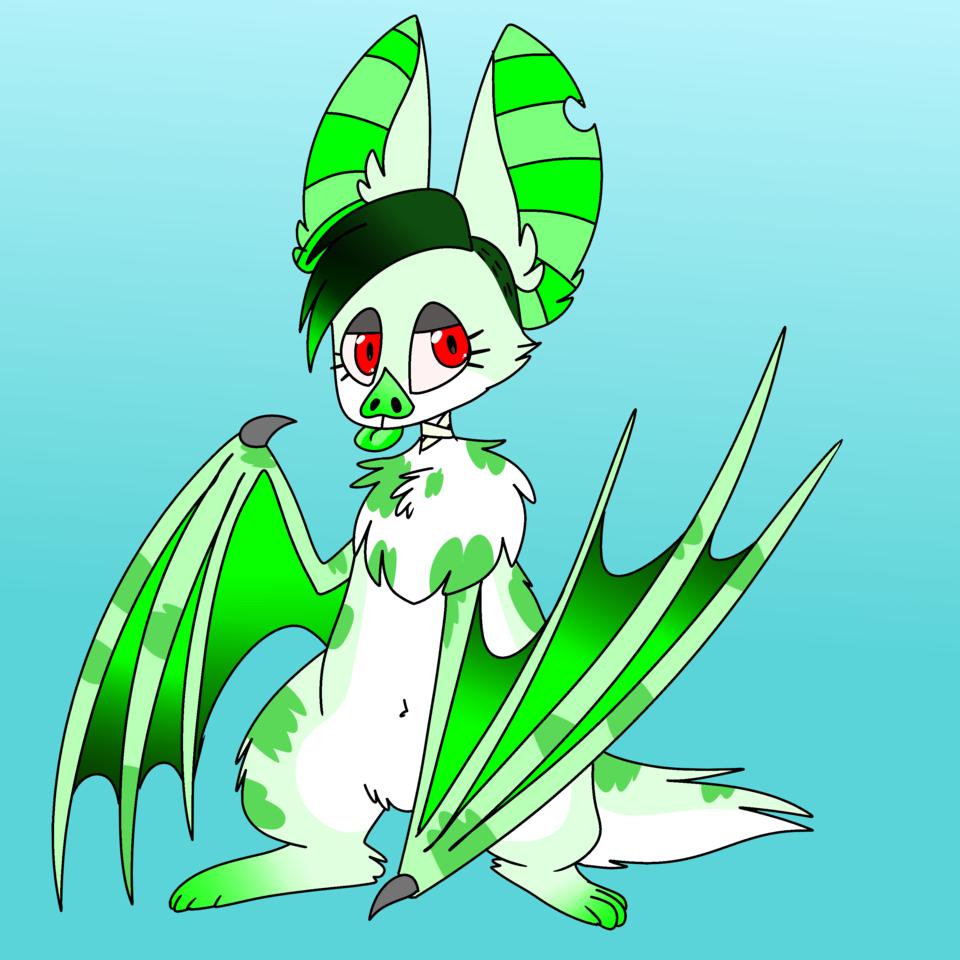 green bat thing Illust of ❄Ash❄ medibangpaint