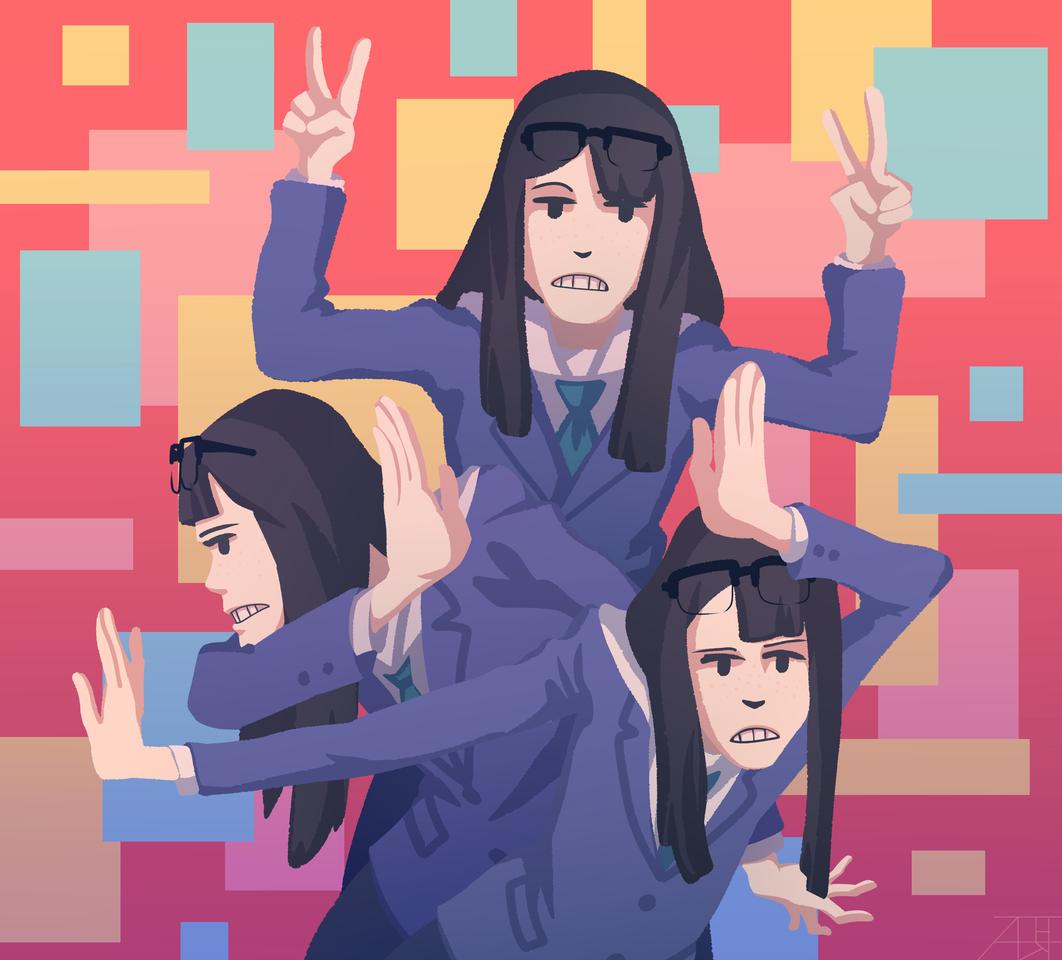 Kanamori Illust of Mr.Sheogorath medibangpaint girl Kanamori opening KeepYourHandsOffEizouken! anime Sayaka_Kanamori 金森さやか bestgirl