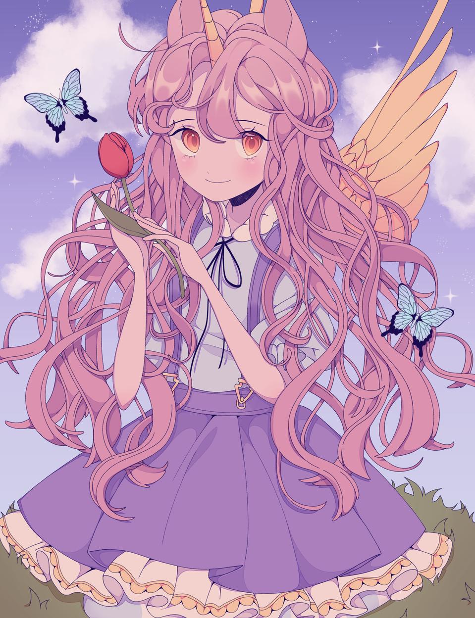 ⚘unicorn⚘ Illust of 유정/YJ medibangpaint pink メルヘン girl Unicorn