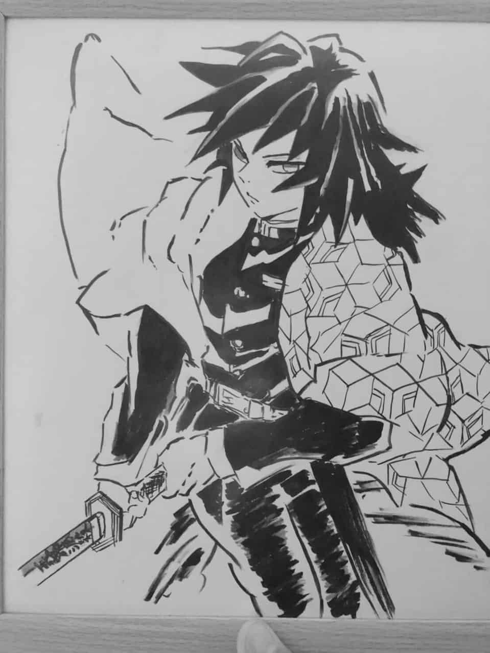 鬼滅の刃イラストコンテスト   筆ペン Illust of もっち DemonSlayerFanartContest 水柱 KimetsunoYaiba TomiokaGiyuu 俺は嫌われてない