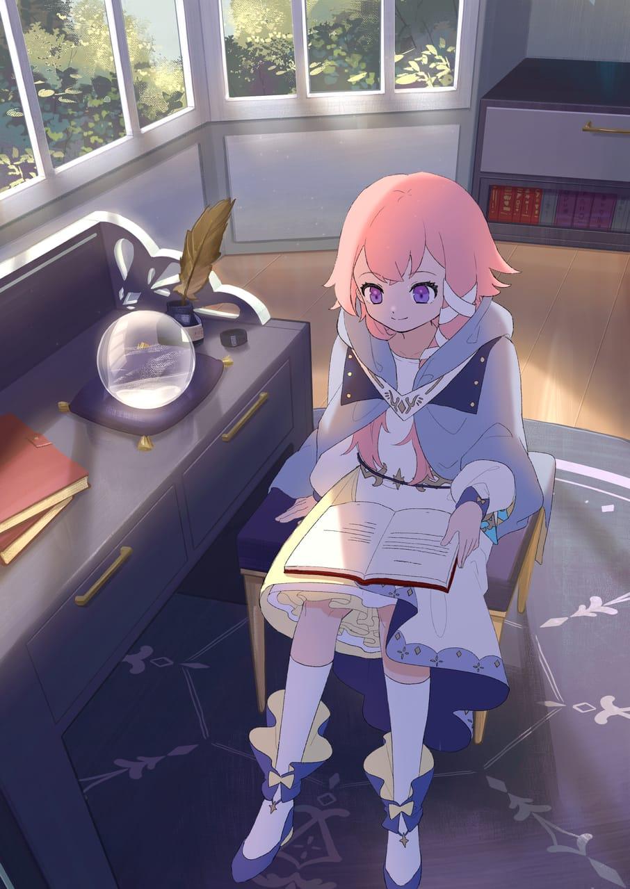 reading Illust of 微米 illustration