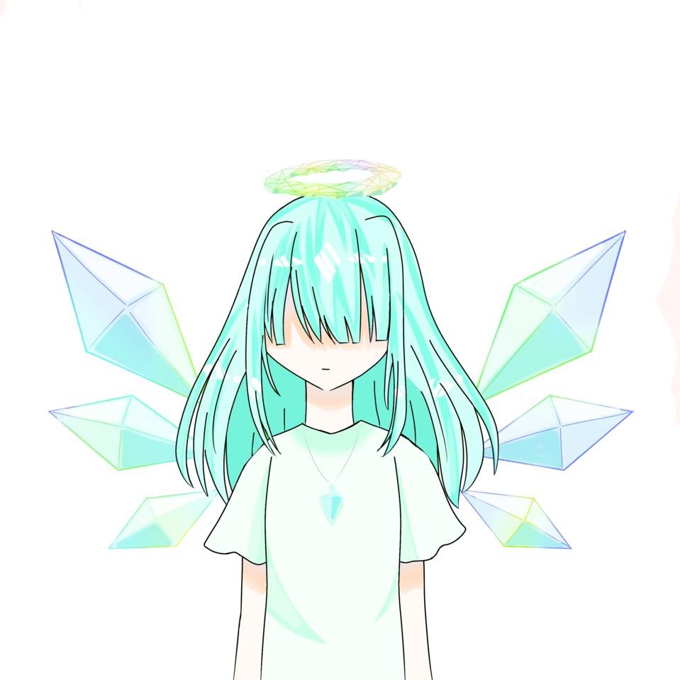 氷の天使 Illust of りん・えめらるど*#お味噌汁崇拝 medibangpaint angel 天使の輪 oc girl 氷の羽 ネックレス