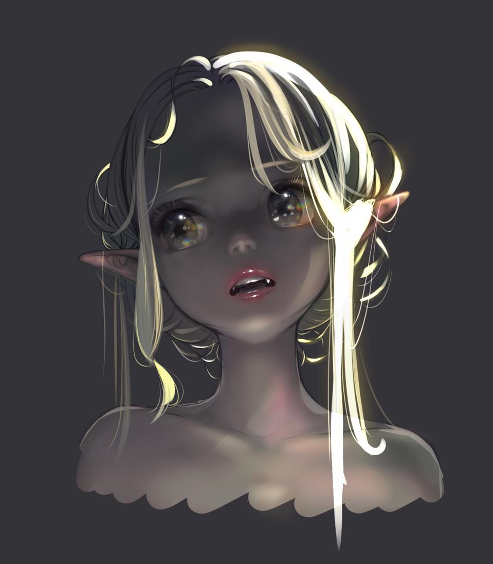 vmp Illust of Tow Tateoka oc girl vampire medibangpaint