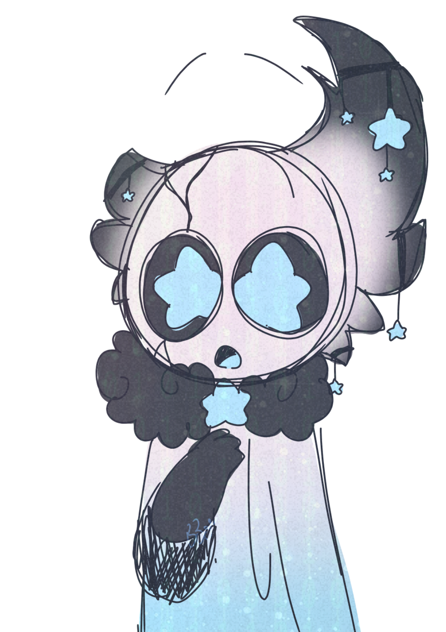 Redesign for SquidKid Illust of BushBabyOrigins medibangpaint blue redesign star cute Hollow_Knight gift