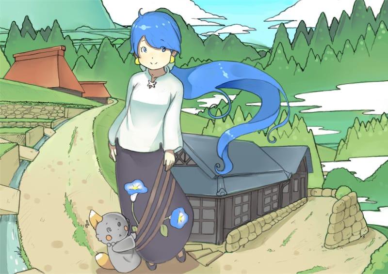あさがおちゃん Illust of かみむらあき kawaii girl MyTinyPrincess illustration