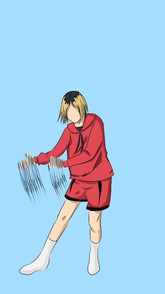 Kenma 65th frame Illust of Allelee zen dancing Haikyu!! frame Kenma