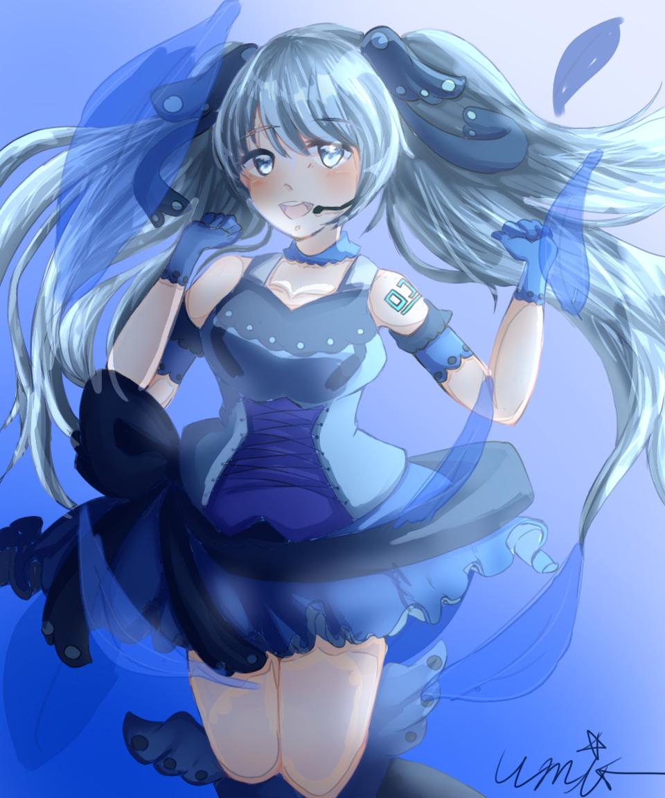 Blue Sea Illust of 悠未唯無。 blue hatsunemiku