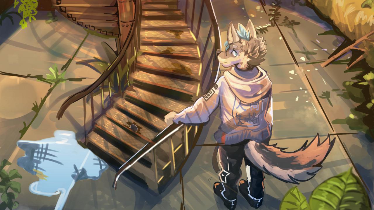 廢墟 Illust of 肯尼吉 獸人 background furry