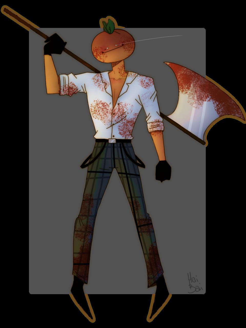 it's him Illust of Hai Bai oc doodle dark