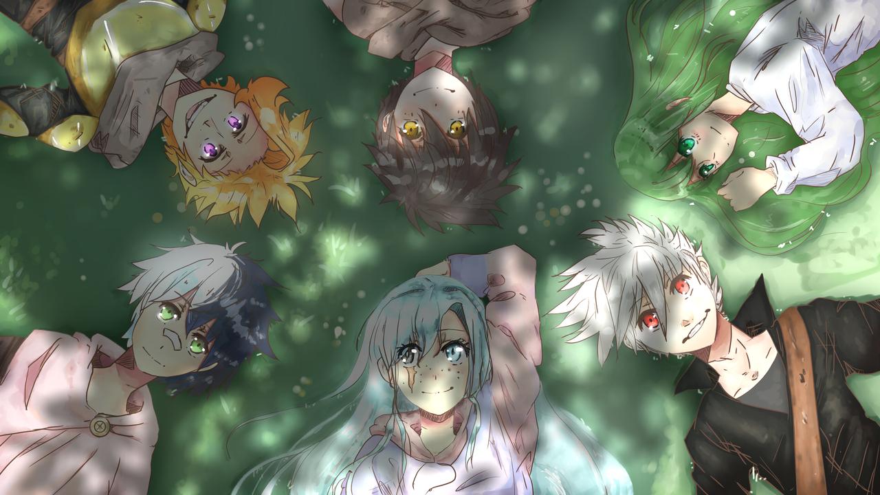 Under the tree Illust of MikNic Feb2020:VDAY Original_Illustration_Contest