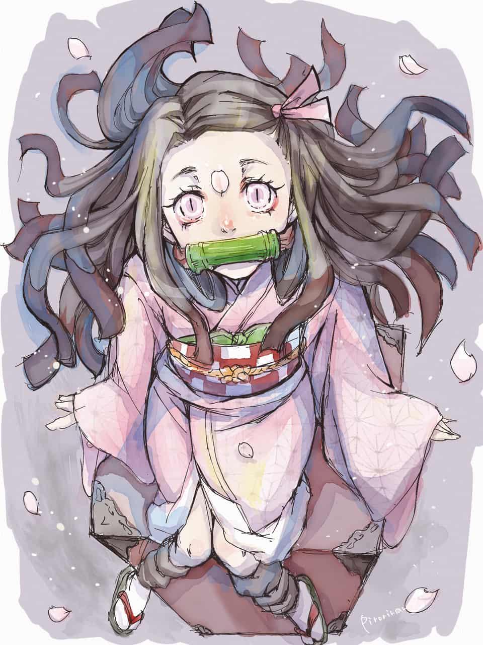 桜ひらりん Illust of pirorinsan DemonSlayerFanartContest portrait KamadoNezuko KimetsunoYaiba